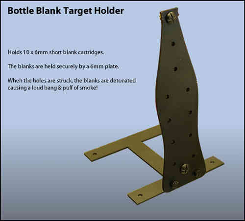 Bottle Blank Holding Airgun Target