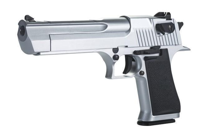 KWC Desert Eagle .50AE Chrome - 6mm Blowback - PULL THE ...