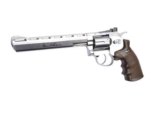 "ASG Dan Wesson Revolver 8"" With Wood Style Grips (6mm Airsoft)"