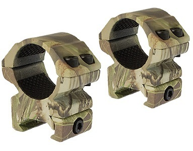 "Hawke 1"" 2 Piece Medium Weaver Match Mounts - Camo"