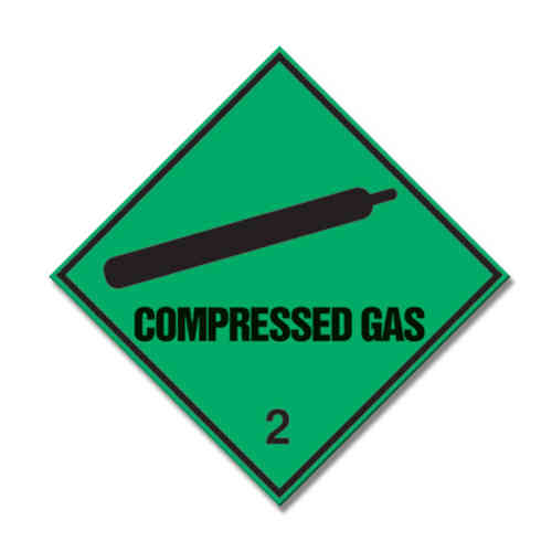 Compressed Gas Window Sticker