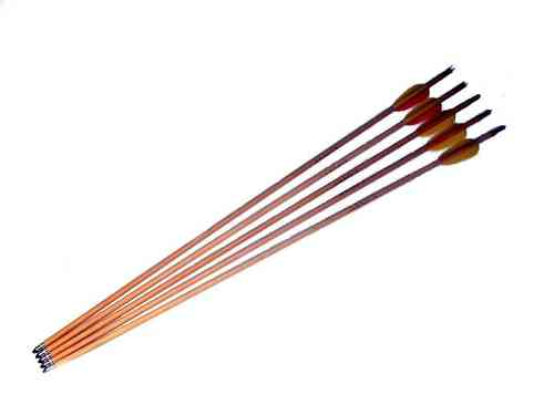 "Armex 28"" Wood Arrows - Pack of 5"