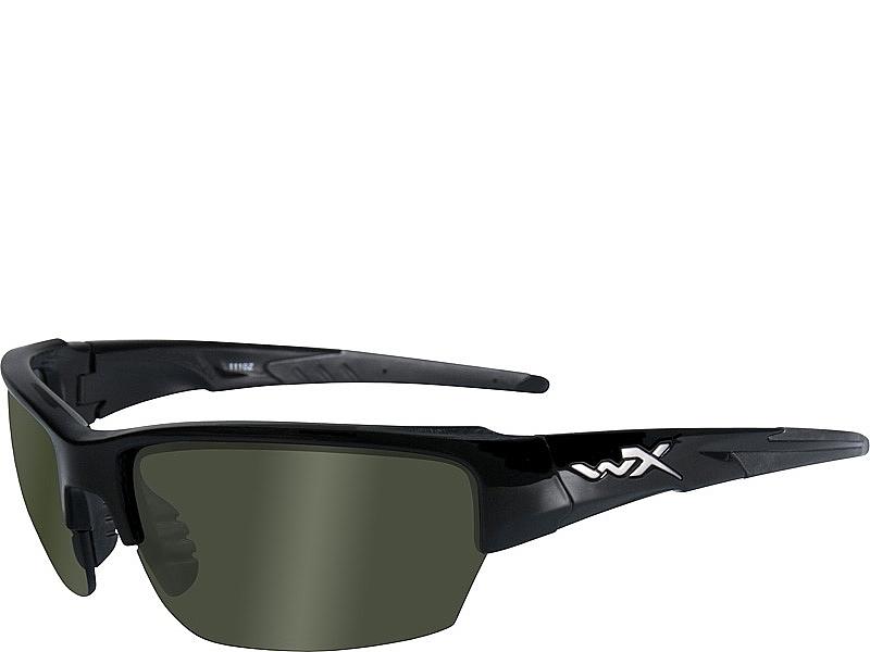 b6c0292177 Wiley X Saint - Polarized Smoke Green Lenses   Gloss Black Frame ...