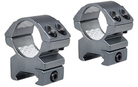 "Hawke 1"" 2 Piece Medium Weaver Match Mounts - Stainless Steel Finish"