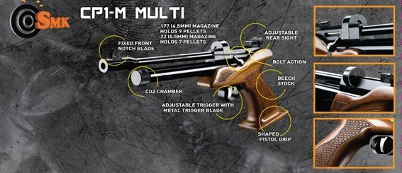 SMK Victory CP1-M CO2 Air Pistol