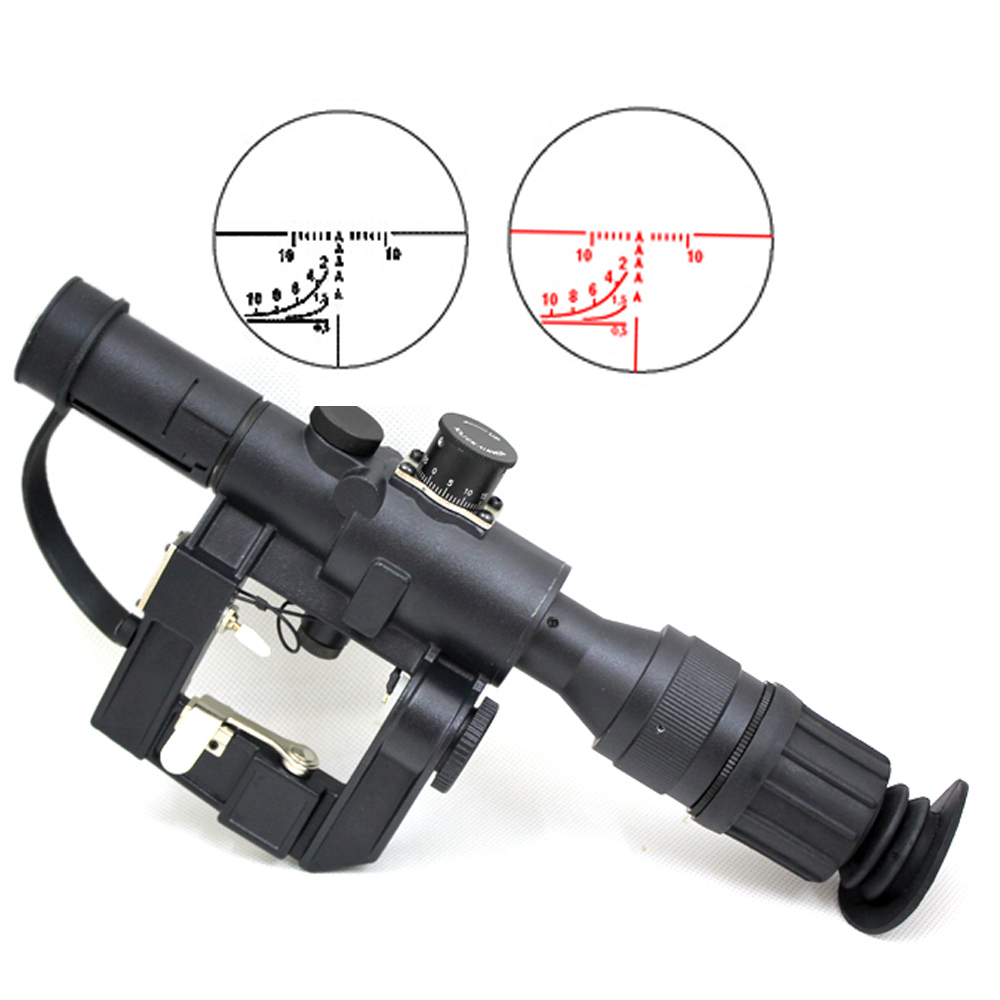JG 4x26 SVD Red Illuminated Sniper Scope - PULL THE TRIGGER