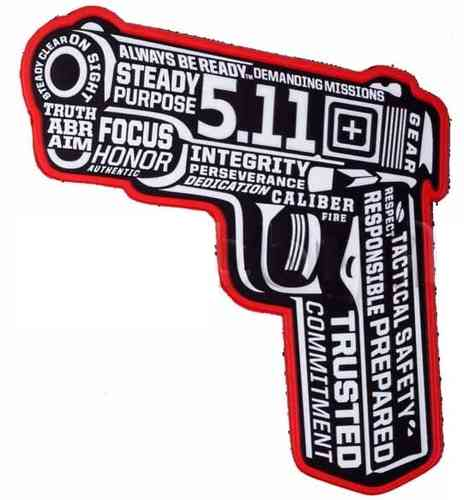5.11 Tactical 45 Words Or Else Patch - Black
