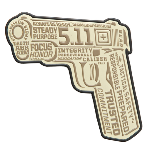 5.11 Tactical 45 Words Or Else Patch - Sand