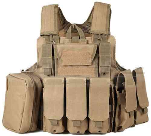 Big Foot Ciras 600D Armour Vest - Tan