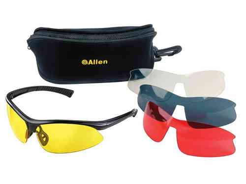 Allen Shooting Safety Glasses - 4 Lens Set