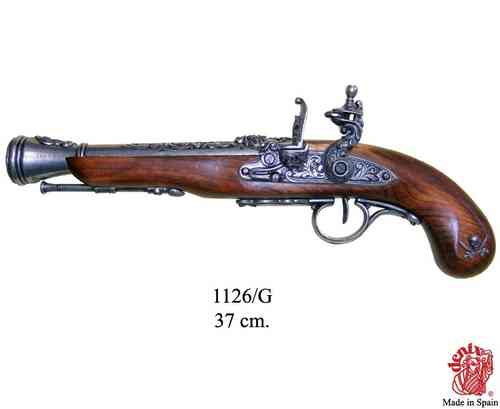 Denix Flintlock Pirate Pistol, 18th. Century (left-handed) 1126/G