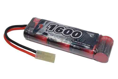 8.4V 1600mAh 2/3A NiMH Mini (3x2 + 1) (Mini-Tamiya) Battery