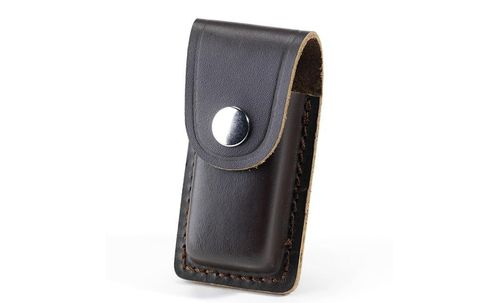 "Whitby 3"" Leather Knife Pouch - Dark Brown - WP23"