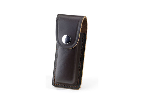 "Whitby 4"" Leather Knife Pouch - Dark Brown - WP24"