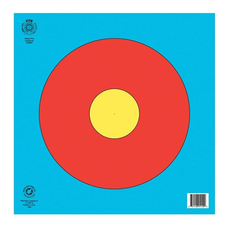 Hit & Miss Paper Archery Targets - 40cm x 40cm (10 pack)