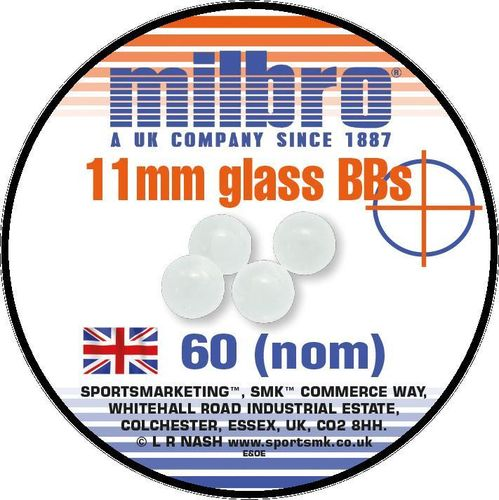 Milbro Slingshot Ammo - 11mm Glass