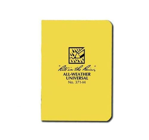 "RITR Rite in the Rain All Weather Universal Stapled Notebook, Size 3.25"" X 4.6"", Yellow (371-M)"