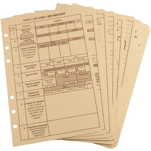 "RITR Rite in the Rain All Weather Tactical Reference Cards, Size 4 5/8"" x 7"", Tan (9200 T-R)"