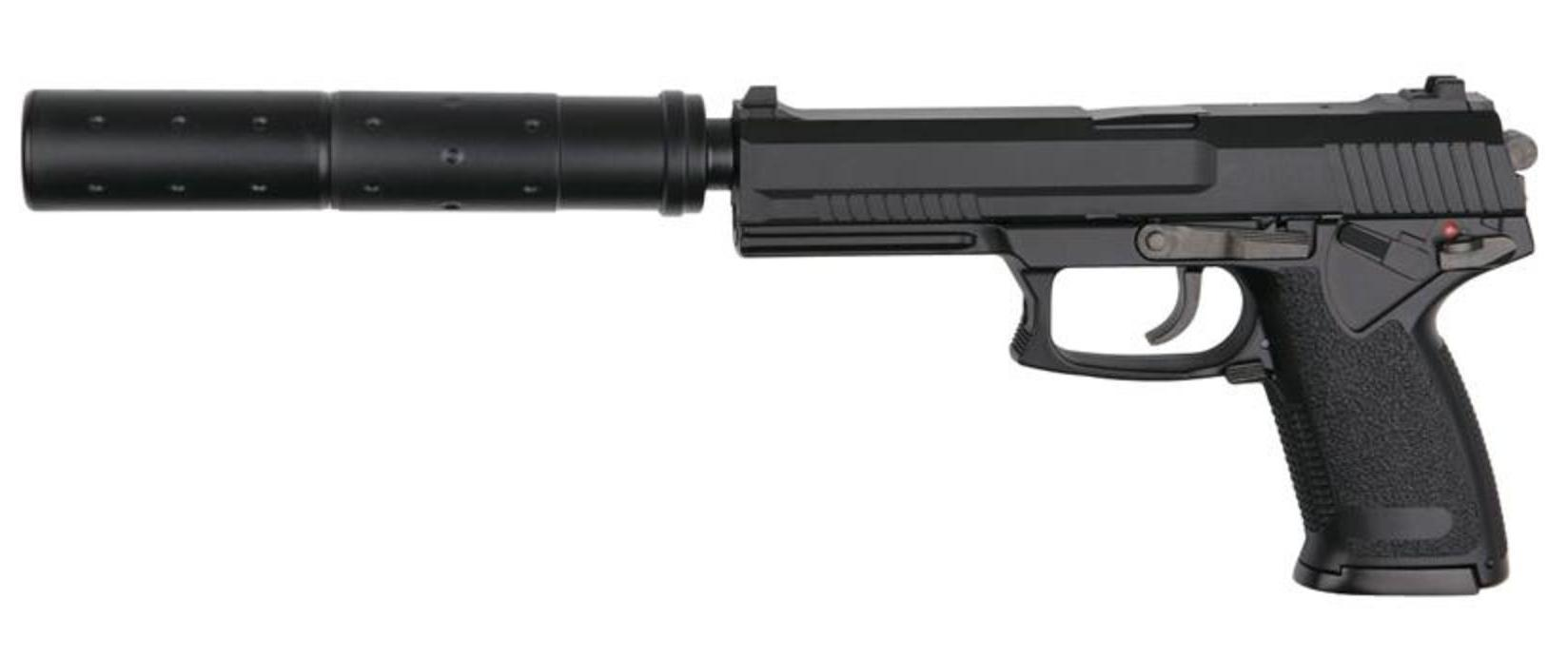 Asg Mk23 Socom Airsoft Pistol With Silencer Gnb Pull