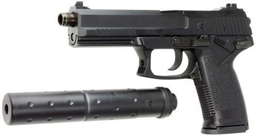 ASG MK23 Socom Airsoft Pistol with Silencer - GNB - Pull The Trigger