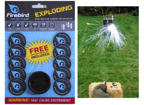 Firebird Airflash 40 Quiet Air Rifle Exploding Targets