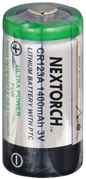 Nextorch CR123A Lithium Non-Rechargeable Battery