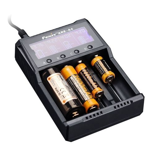 Fenix ARE-A4 LCD Smart 4 Channel Digital Battery Charger