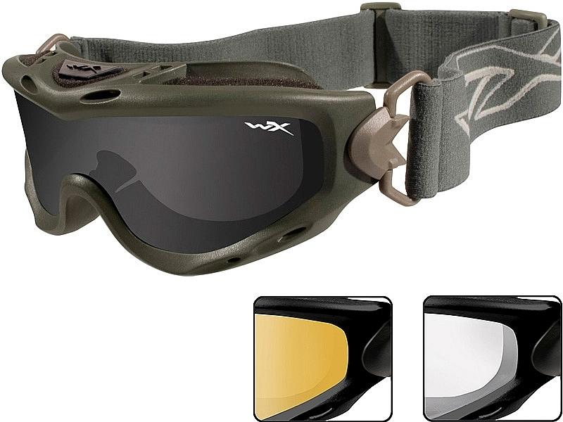 037d81a0da9f ... Wiley X Spear Goggles - Smoke Grey, Clear, Light Rust Lenses / Matt  Black ...