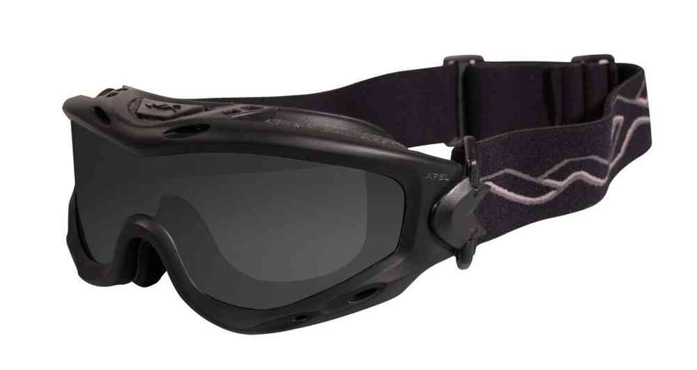 4a837ef6b Wiley X Spear Goggles - Smoke Grey, Clear, Light Rust Lenses / Matt Black