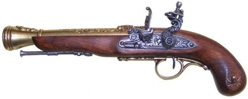 Denix Flintlock Pirate Pistol, 18th. Century (left-handed) 1126/L