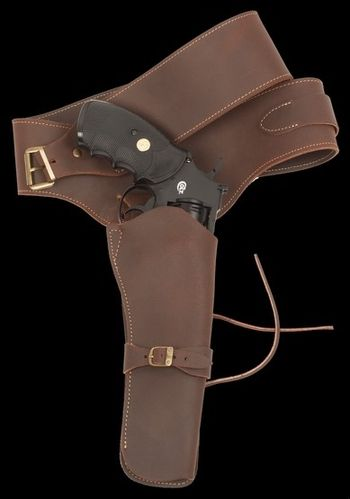 Western Fast Draw Holster in Brown Leather