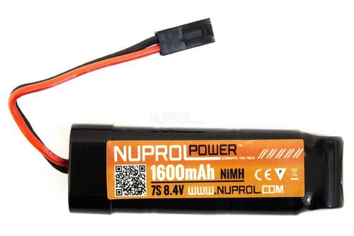 NP Power 1600mah 8.4v NiMH (3x2 + 1) (Mini-Tamiya) Battery