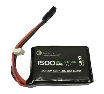 WE 1500mAh LiPO 7.4V 20C Stick (PEQ/AN-15) Battery