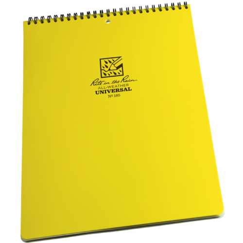 "RITR Rite in the Rain All Weather Universal Top Spiral Notebook, Size 8"" X 11"", Yellow (185)"