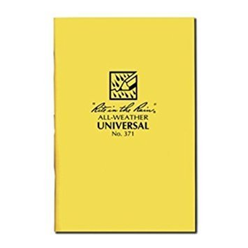 "RITR Rite in the Rain All Weather Universal Stapled Notebook, Size 4.6"" X 7"", Yellow (371)"