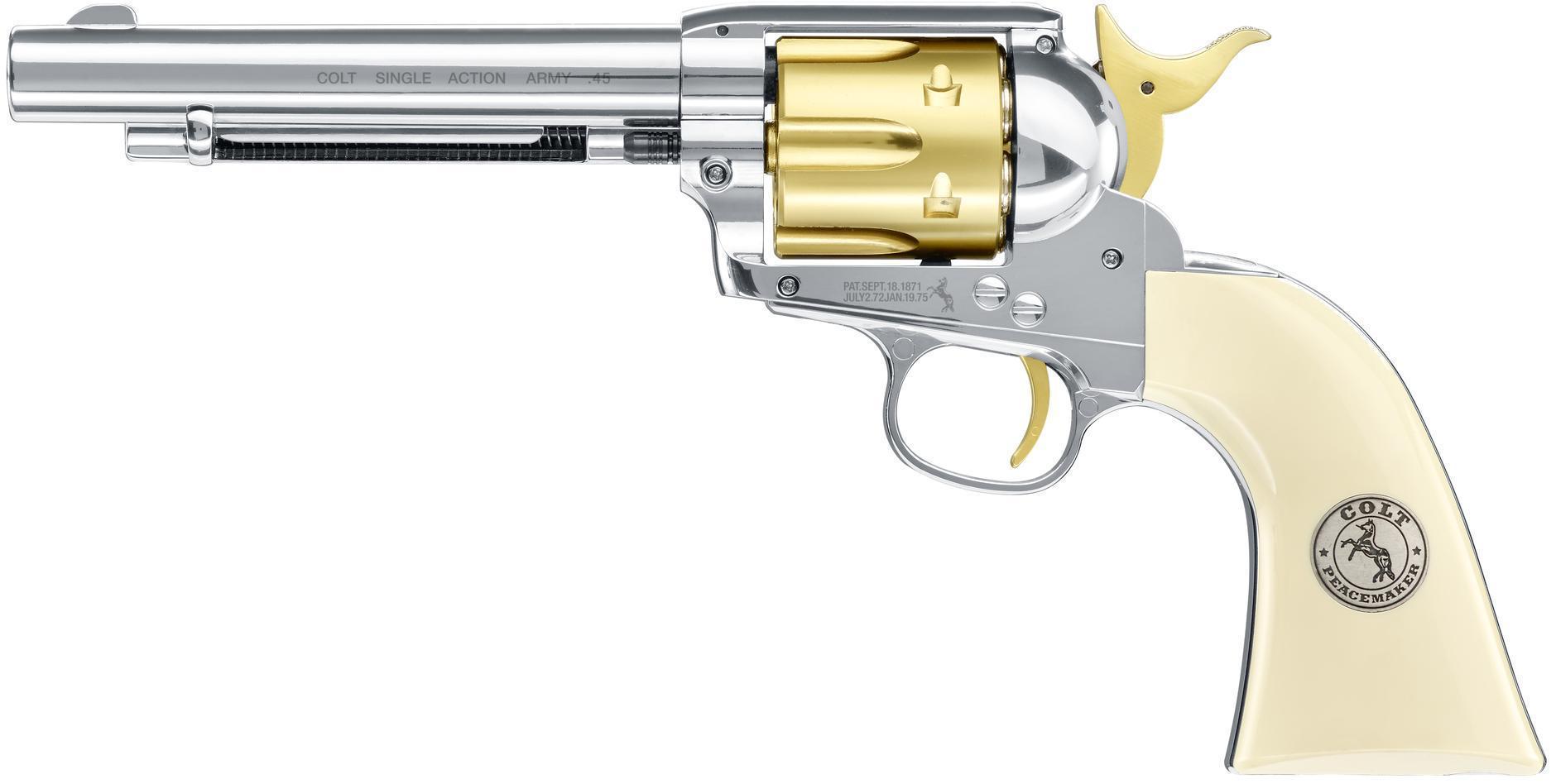 Umarex Saa 45 Colt Peacemaker 177 Pellet Gold Nickel