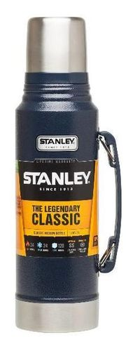 Stanley Classic Vacuum Insulated Bottle - Hammertone Navy 1 Litre