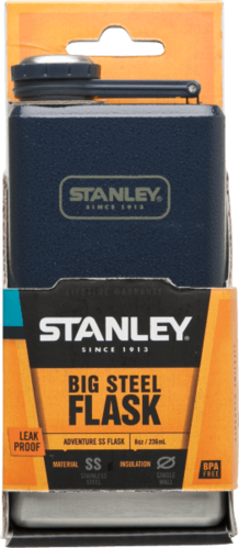 Stanley Adventure Stainless Steel Flask - Hammertone Navy 236ml