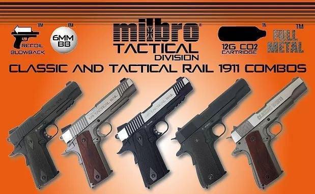 Milbro Tactical Division 1911 Rail Gun Stainless - 6mm