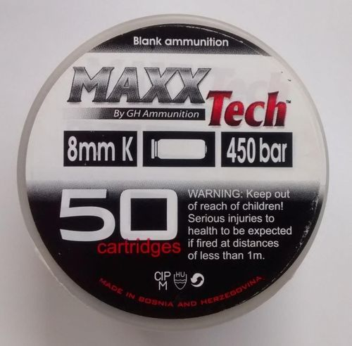 Maxx Tech 8mm Blanks (50)
