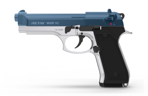 Retay Arms MOD 92 - Nickel / Blue - 9mm