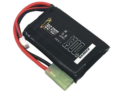 Big Foot Heat Lipo Battery 1300 mAh 7.4v 20c (Square)