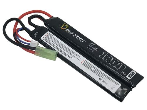 Big Foot Heat Lipo Battery 1300mAh 7.4v 15c (Two Way Split)