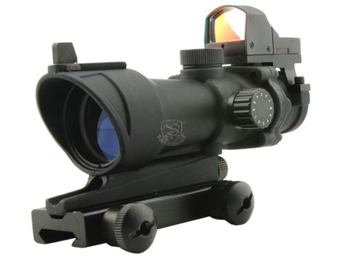 UFC ACOG 4×32 Scope Red/Green Reticle with Mini Reddot - Black