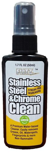 Flitz Stainless Steel & Chrome Cleaner with Degreaser - 50ml