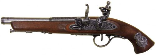 Denix Flintlock Pistol, France 18th. Century (left-handed) 1127/G