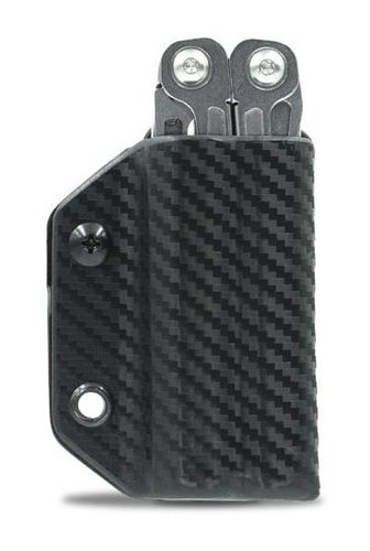 Clip & Carry Leatherman Wingman / Sidekick / Rebar Kydex Sheath - Carbon Fibre